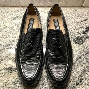 Stacy Adams Genuine Snake Skin Loafers, Size 10M